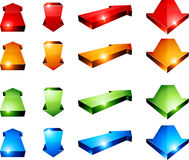 3d arrows. Set of 3D color arrows Stock Image