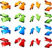 3d arrows. Set of return 3D arrows Royalty Free Stock Photo