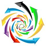 3d arrows. Set of colorful 3d arrows Stock Photography