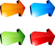 3d arrows. Illustration of 3D vibrant arrows Stock Photo
