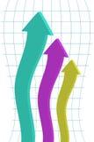 3d arrows Stock Photography
