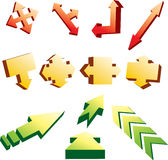 3d arrows Royalty Free Stock Images