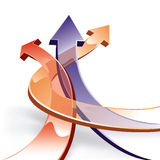 3D arrows. Vector illustration of 3D arrows. 8 eps Royalty Free Stock Photography