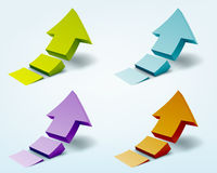 3d arrows. Vector illustration of 3d arrows Royalty Free Stock Photography