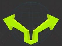 3D arrows. Illustration of green 3D arrows Stock Photos