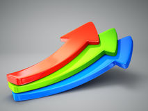 3d arrows Stock Photography