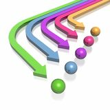 3D arrows. 3D colorful arrows (high resolution Royalty Free Stock Images
