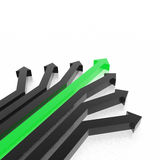 3D arrows. Arrows (from 3D arrows set Royalty Free Stock Images