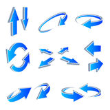3D Arrows. A vector set of useful arrows Royalty Free Stock Images