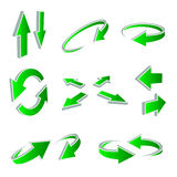 3D Arrows. A vector set of useful arrows Royalty Free Stock Photo