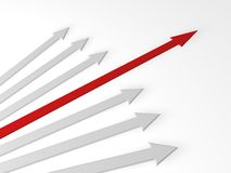 3d arrows Stock Image