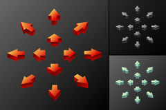 3D arrows. 3D colored arrows for web etc Royalty Free Stock Photography