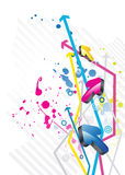 3D Arrows background. For business artworks Stock Photos