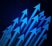 3d arrows background. Cgi illustration Royalty Free Stock Image