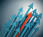 3d arrows background Royalty Free Stock Images