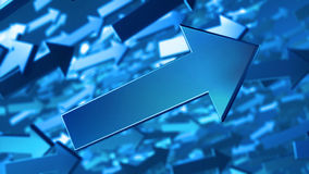 3D Arrows background Royalty Free Stock Photo