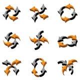 3D arrows composition Stock Image