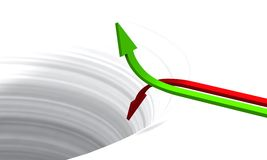 3D Arrows concept green red 02 Royalty Free Stock Image
