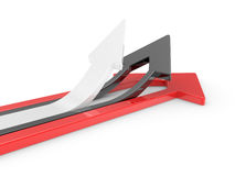 3D Arrows directed upwards Stock Photos
