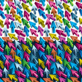 3d arrows seamless pattern. 2 variants, over white and dark backgrounds Royalty Free Stock Image