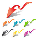 3d  arrows set. Abstract 3d  arrows set Royalty Free Stock Photography