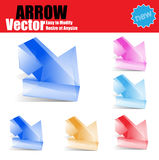 3d  arrows set. Abstract 3d  arrows set Stock Photo
