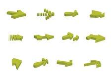 3d arrows - vector Royalty Free Stock Photos