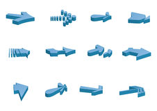 3d arrows - vector Stock Image