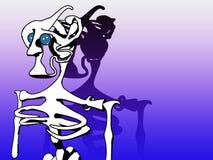 3d art Skeleton figure standing Stock Images
