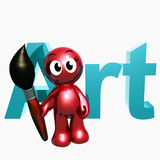 3d artist icon. Symbol illustration Stock Photo