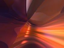 3D as linhas abstratas amarelo alaranjado vermelho da cor rendem Foto de Stock