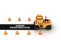 3d asfaltafwerker Stock Foto