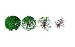 3D astratti rendono del cambiamento di clima illustrazione di stock