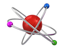 3d atom Obrazy Royalty Free