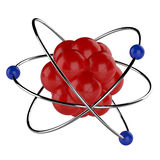 3D Atom. This is a 3d render illustration Stock Photography