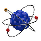 3D Atom. This is a 3d render illustration Royalty Free Stock Images