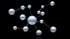 3d atom. Structure on black background Stock Photography