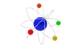 3d atom. Structure on white background Royalty Free Stock Photography