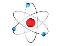 3D Atom. 3D illustration of an science symbol Royalty Free Stock Images