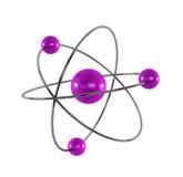 3d atom wytwarzający Fotografia Royalty Free