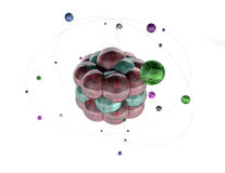 3d atomen Stock Afbeelding