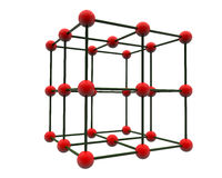 3d atoms Royalty Free Stock Photos