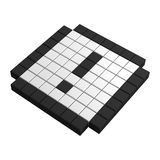 3d attention pixel icon Stock Image