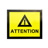 3D Attention sign Royalty Free Stock Photos
