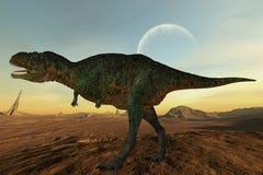3d aucasaurus恐龙 库存图片