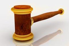 3d auction hammer Stock Photos