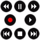 3D Audio Buttons Royalty Free Stock Photos