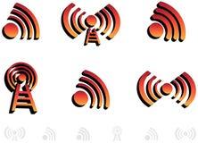 3d audio ikony Obraz Royalty Free