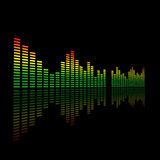 3d audio podwójny dowodzony pozioma metr ilustracja wektor