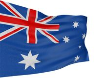 3D Australian flag Royalty Free Stock Photo